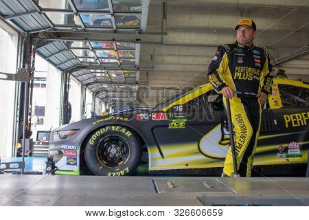 September 28, 2019 - Concord, North Carolina, USA: Ryan Newman (6) gets ready to practice for the Bank of America ROVAL 400 at Charlotte Motor Speedway in Concord, North Carolina.