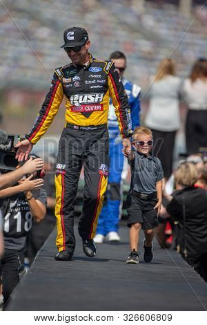 September 30, 2019 - Concord, North Carolina, USA: Clint Bowyer (14) gets introduced for the Bank of America ROVAL 400 at Charlotte Motor Speedway in Concord, North Carolina.