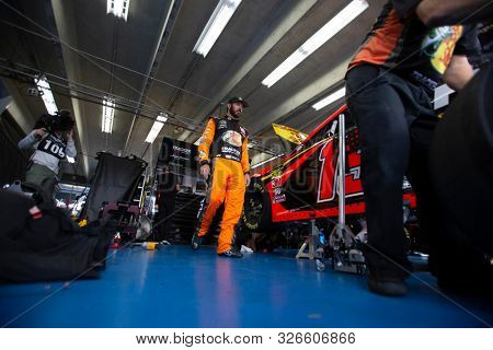 September 28, 2019 - Concord, North Carolina, USA: Martin Truex Jr. (19) gets ready to practice for the Bank of America ROVAL 400 at Charlotte Motor Speedway in Concord, North Carolina.