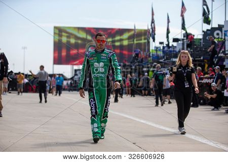 September 27, 2019 - Concord, North Carolina, USA: Kyle Larson (42) practices for the Bank of America ROVAL 400 at Charlotte Motor Speedway in Concord, North Carolina.
