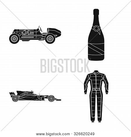 Vector Illustration Of Car And Rally Symbol. Collection Of Car And Race Vector Icon For Stock.