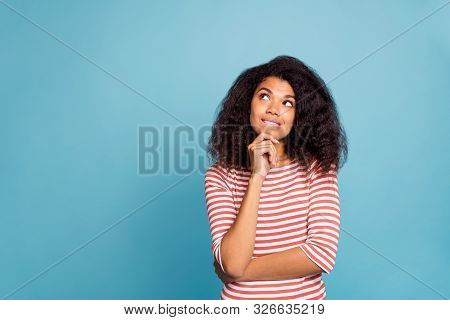 Photo Of Serious Confused Interested Black Millennial Trying To Remember Important Information Bitin
