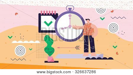 Discipline Modern Abstract Concept Vector Illustration. Personal Self Control System. Target And Dea