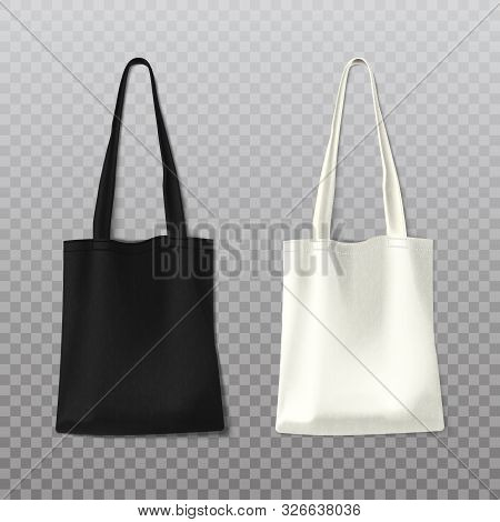 Isolated Black And White Woman Bag Or Female Handbag On Transparent Background. Fashion Leather Obje