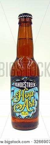 Amsterdam, The Netherland - October 9, 2019: Bottle Of Vandestreek Hop Art Beer, A Session Ipa Style