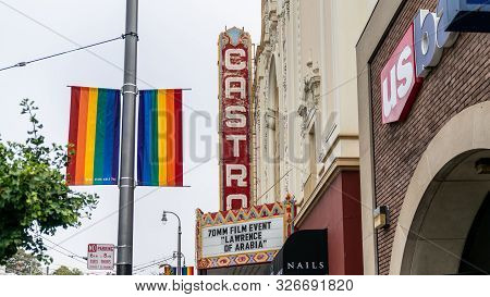July 1, 2018 - San Francisco, California: View Of The Castro Theatre On Castro Street In San Francis