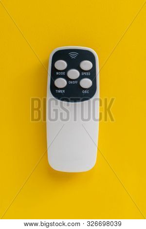 Simple Remote Wireless Controlle On The Color Background Isolated Top View