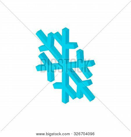 Snowflake Isometric Object. Vector Illustration of Christmas Sign Isometry. poster