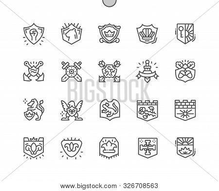 Blazon Well-crafted Pixel Perfect Vector Thin Line Icons 30 2x Grid For Web Graphics And Apps. Simpl