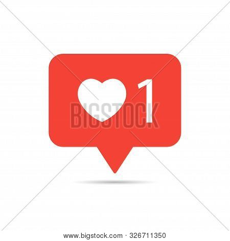 Icon Button. Like 1. Heart One. Red Button Like
