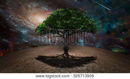 Sci Fi art. Tree of Life. 3D rendering