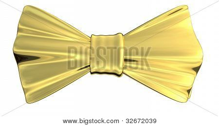 Bowtie Gold, isolated