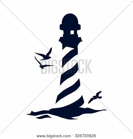 Lighthouse On Icon Isolated On White Background From Travelling Collection. Lighthouse On Icon Trend