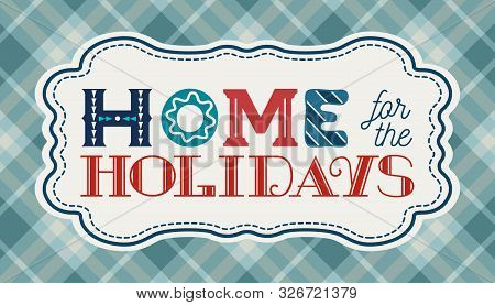 Happy Holidays Hand Drawn Vector Poster. Cute Fun Lettering Cartoon. Christmas Fancy Quote Sing. Win