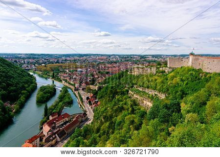 Citadel Of Besancon And River Doubs Of Bourgogne