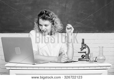 Study Microbiology. Investigate Molecular Modifications. Scientific Research. Microbiology Concept.