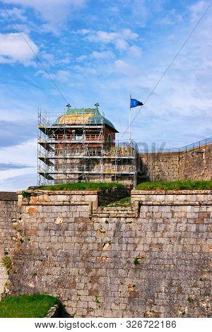 Construction Works At Citadel Of Besancon In Bourgogne