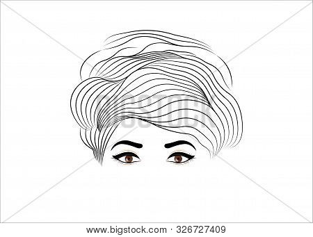 Coiffure Salon Logo, Vintage Fashion Woman Hairstyle Concept. Stylish Design For Beauty Salon Flyer