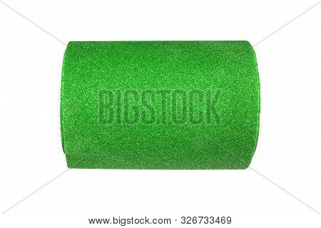 Coarse sandpaper.Sandpaper roll isolated on white background. poster