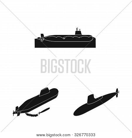 Vector Design Of Technology And Fleet Sign. Set Of Technology And Navy Stock Vector Illustration.