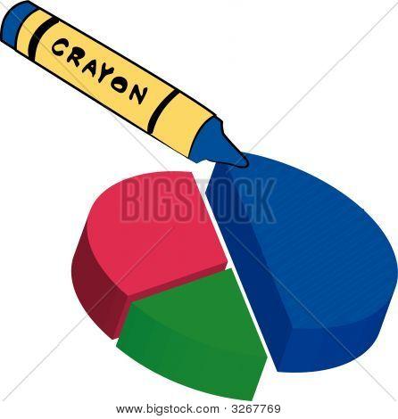 Crayon Coloring Circle Graph