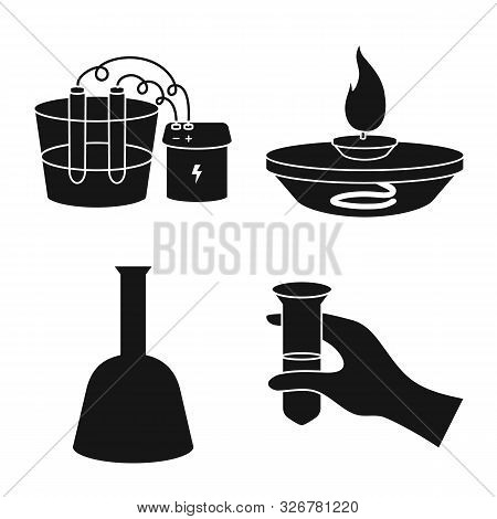 Vector Design Of Pharmacology And Experiment Sign. Collection Of Pharmacology And Chemistry Stock Ve