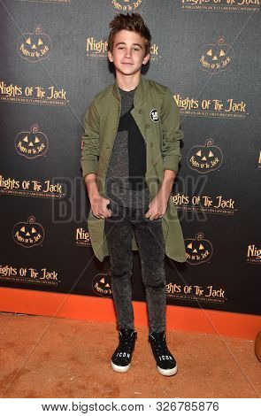 LOS ANGELES - OCT 02:  Parker Bates arrives for Nights of the Jack VIP Preview on October 02, 2019 in Calabasas, CA