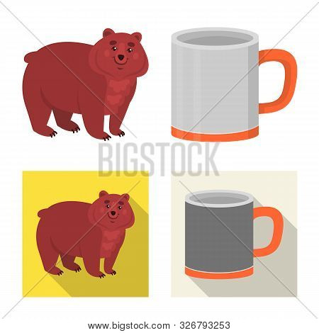 Isolated Object Of Cookout And Wildlife Icon. Collection Of Cookout And Rest Vector Icon For Stock.