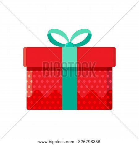 Gift Box, Present In Vector. Gift In Flat Style On White Background. Happy New Year Decoration. Coll