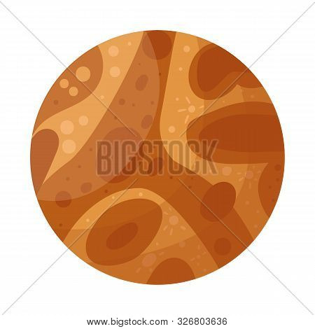 Vector Illustration Of Mars And Orb Logo. Graphic Of Mars And Star Vector Icon For Stock.