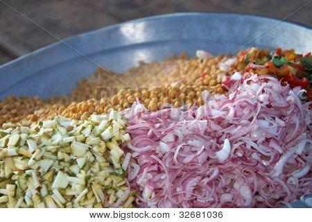 Cut Mixed Vegetables Ready For Cooking