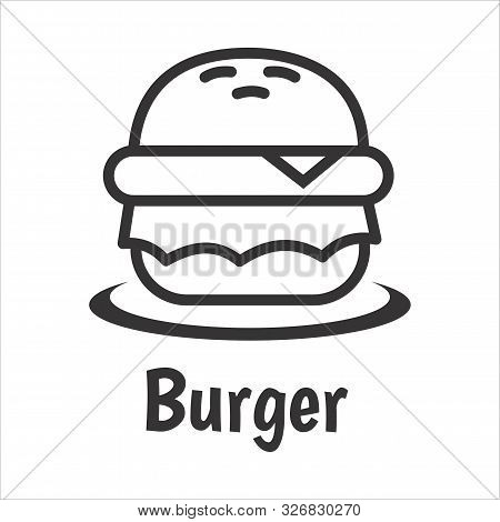 Isolated Vector Burger Icon With White Background. Trendy Burger Icons And Modern Burger Symbols. Ve