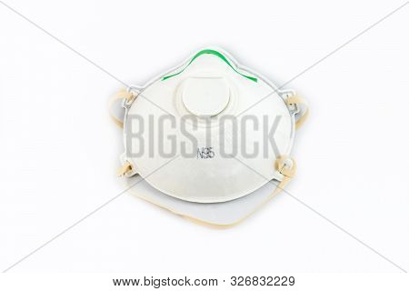 Protection Respirator For Filter Face Mask Safeguard On White Background