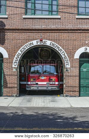 Charleston, Usa - July 21, 2010: Charleston Fire Department Still In Use In Charleston, Usa. The Cit