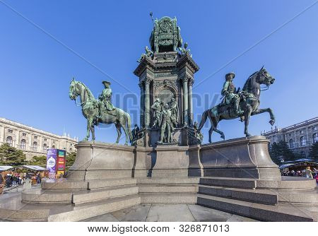 Vienna - March 9, 2011: Maria-theresien-denkmal - Maria Theresia Monument, In Vienna, Austria. The M