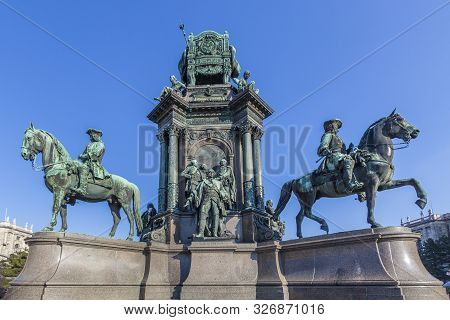 Vienna, Austria - March 9, 2011: Maria-theresien-denkmal - Maria Theresia Monument, In Vienna, Austr