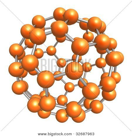 3d rendered model of molecule