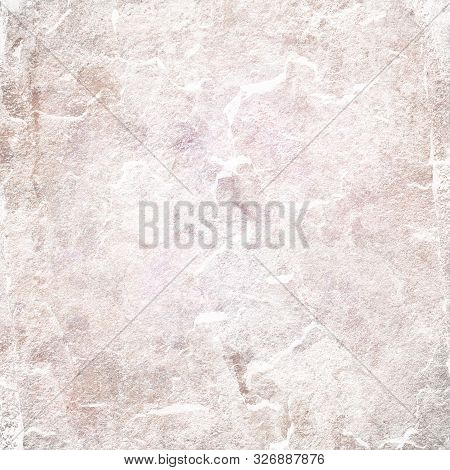 Light Brown And White Stone Background Texture With Distressed Old Vintage Grunge