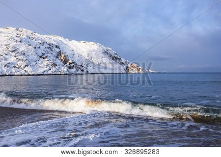 Barents Sea Shore. Kola Peninsula Landscape