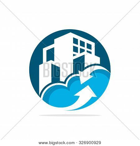 Vector Illustration Icons With The Concept Of Smart City Management Based On Cloud Computing Technol