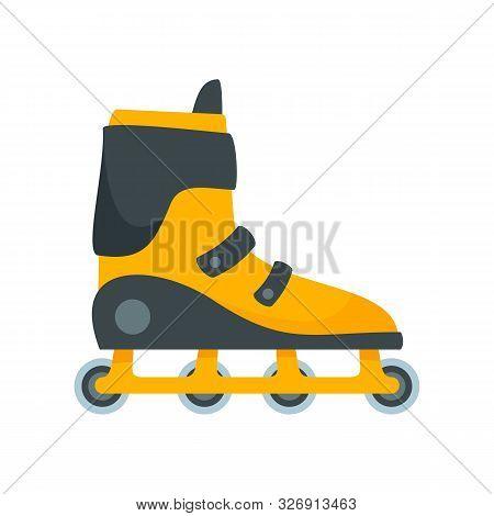 Extreme Inline Skates Icon. Flat Illustration Of Extreme Inline Skates Vector Icon For Web Design