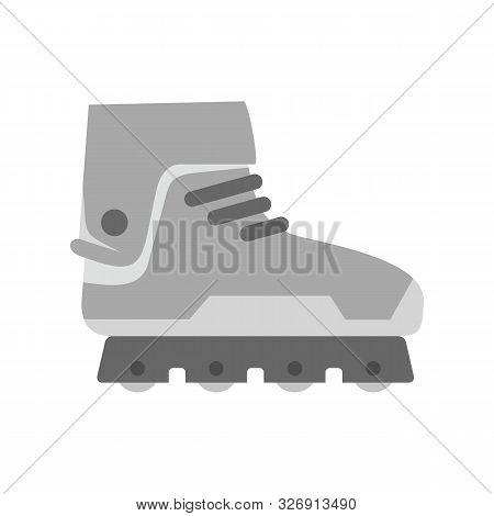 Professional Inline Skates Icon. Flat Illustration Of Professional Inline Skates Vector Icon For Web