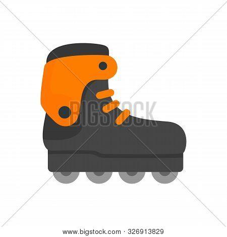 Carbon Inline Skates Icon. Flat Illustration Of Carbon Inline Skates Vector Icon For Web Design