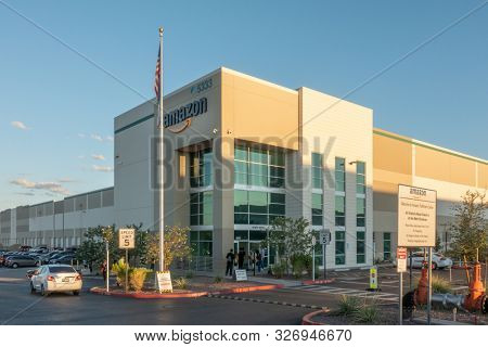 Phoenix,Az,USA -9.28.19: Amazon.com, Inc, is an American tech company in Seattle, WA, that focuses on e-commerce with the most advanced fulfillment networks in the world including the Phoenix location