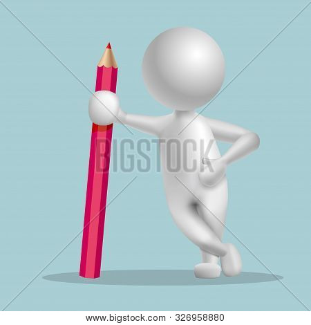 Vector drawn people symbol,Rely on the pencil.Image uses a grid gradient. poster