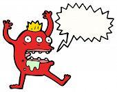gross monster scaring cartoon poster