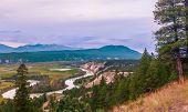 View of Columbia river. Radium Hot Springs. British Columbia. Canada poster