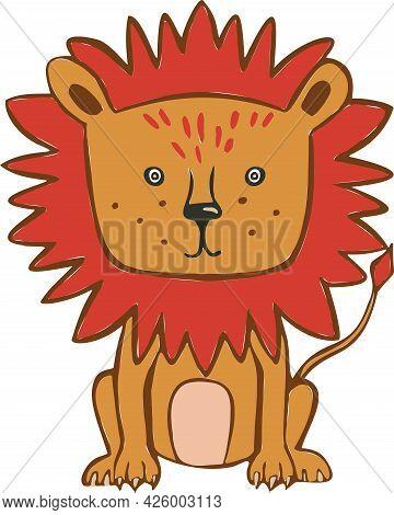 Design Cute Leo . Small Icon For Stock.
