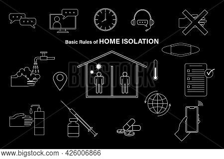 Basic Rules Of Home Isolation Concept When Diagnosed As Infected With Corona Virus Is To Self Isolat