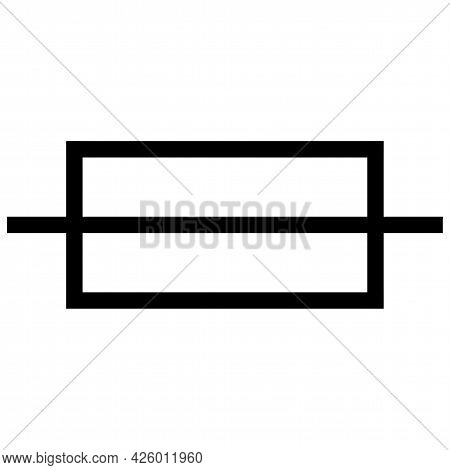 Caution Fuse Symbol Sign On White Background